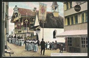 AK Appenzell, Prozession bei der Abtskapelle