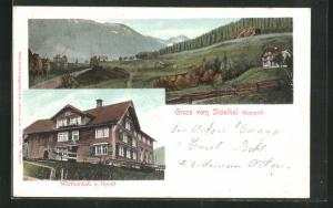 AK Kappel, Wirthschaft z. Speer, Blick auf Häuser im Steinthal