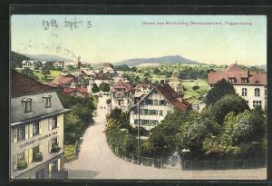 AK Kirchberg, Westquartier, Gasthaus Wilhelm Tell, Häuserfassaden und Umgebung