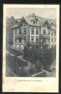 AK Nesslau, Abschiedswinken im Hotel Alpenblick