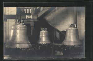 Foto-AK Greifswald, Einholung der neuen Glocken vom St. Nikolai Dom am 21.9.1930