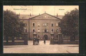 AK Bremen-Neustadt, Eingang zur Kaserne