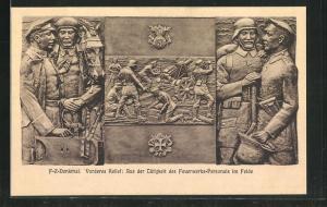 AK Berlin, Enthüllung des Feuerwerkerdenkmals an der Invalidenstrasse, Oktober 1925, Feuerwerks-Personal im Felde
