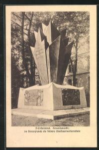AK Berlin, Feuerwerkerdenkmal, Invalidenstrasse