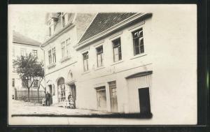 Foto-AK Pforzheim-Würm, Blick auf das Geschäft Rosinski