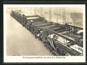 AK Heidenheim a. d. Brenz, Maschinenfabrik J. M. Voith, Druckpapiermaschine