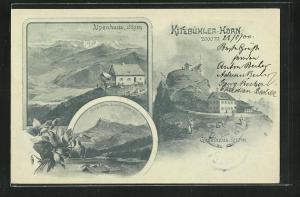 AK Gipfelhaus auf dem Kitzbühler-Horn, Alpenhaus, Horn vom Schwarzsee