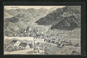 AK Lautenbach, Gasthaus zum Sternen, Panoramablick auf das Dorf