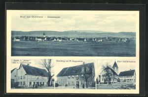 AK Onolzheim, Gasthaus zur Krone, Handlung von W. Gaggstatter