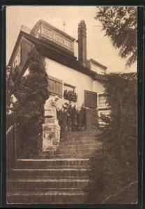AK Heringsdorf, Pension Haus Poladu, Neuer Möwenweg 11, Treppenaufgang