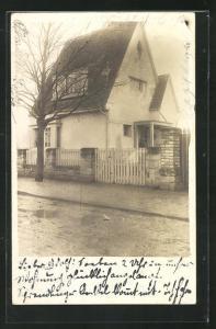 Foto-AK Armsheim, Haus der Familie Lutz