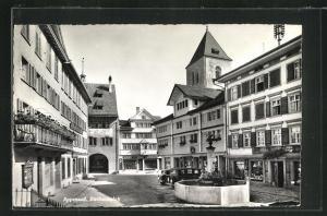 AK Appenzell, Partie am Rathausplatz