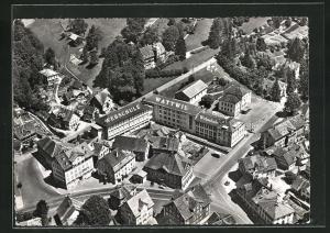AK Wattwil, Fliegeraufnahme mit Webschule Wattwil