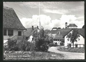 AK Wilchingen, Ortsansicht mit Häusern und Kirche