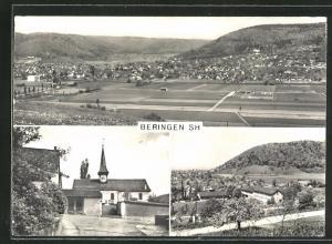 AK Beringen, Panorama, Kirche, Ortsansicht