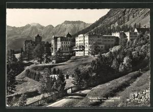AK Pontresina, Hotel Schloss, Kronenhof und Saratz