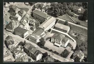 AK Wattwil, Textilfachschule vom Flugzeug aus