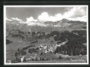 AK Parpan, Ortsansicht mit Bergen
