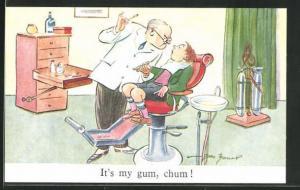 AK It`s my gum, chum!, Junge beim Zahnarzt