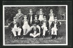 AK Oxford, Rudermannschaft Oxford 1906, Gruppenbild