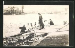 AK Cambridge, The Crew, 1906, Männer rudern