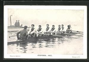 AK Oxford, Männer rudern in einem Achter Ruderboot
