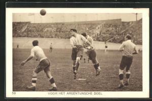 AK Amsterdam, Olympiade 1928, Fussballspiel, Voor het Argentijnsche Doel
