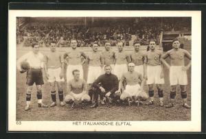 AK Amsterdam, Olympiade 1928, Fussballspiel, Het italiaansche Elftal, italienische Mannschaft