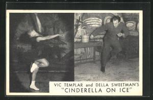 AK Schlittschuh, Vic Templar and Della Sweetman`s Cinderella on Ice, Schlittschuhläufer machen Kunststücke