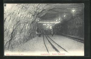 AK Jungfraubahn an der Station Eigerwand
