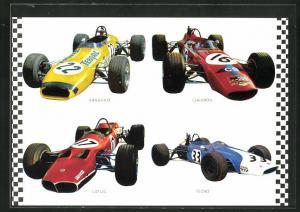 AK Rennautos von Tecno, Brabham und Chevron