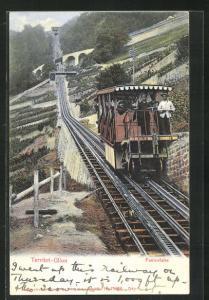 AK Territet-Glion, Funiculaire, Bergbahn