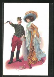 Künstler-AK London, International Horse Show 1910, Olympia, Besucher bei der Pferdeshow