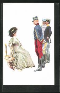 Künstler-AK London, International Horse Show 1909, Olympia, Dame bei der Pferdeschau