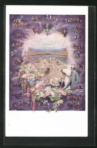 Künstler-AK London, International Horse Show 1912, Olympia, Pferdeschau
