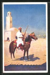 AK London, International Horse Show Olympia 1913, berittener Araber