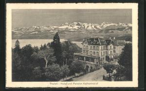 AK Thalwil, Hotel und Pension Katharinahof mit Gebirgspanorama