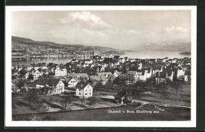 AK Thalwil, Ortsansicht vom Rest. Etzliberg aus mit Kirchturm, Häuser und Wasser