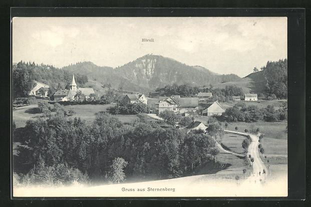 AK Sternenberg, Blick über Kirche, Hörnli und Häuser 0