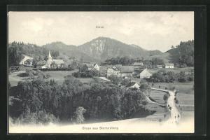 AK Sternenberg, Blick über Kirche, Hörnli und Häuser