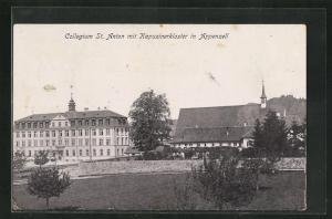 AK Appenzell, Collegium St. Anton mit Kapuzinerkloster