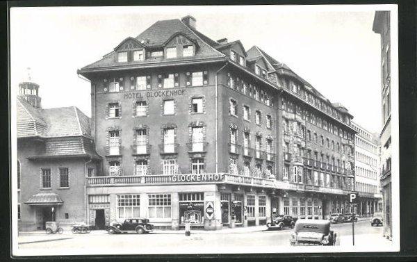 AK Zürich, Hotel Glockenhof, Strassenansicht 0