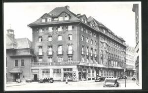 AK Zürich, Hotel Glockenhof, Strassenansicht