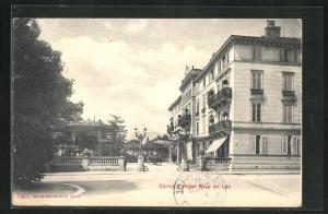 AK Zürich, Hotel Baur au Lac, Auffahrt