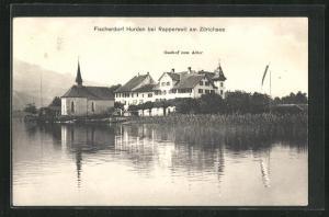 AK Hurden, Gasthof zum Adler am Zürichsee