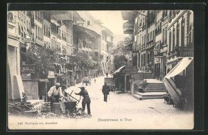 AK Thun, Blick in Hauptstrasse
