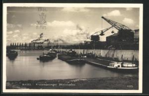 AK Basel, Kleinhüninger Rheinhafen