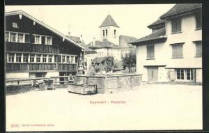 AK Appenzell, Brunnen am Postplatz