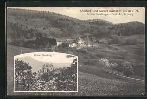 AK Ramsach, Panorama & Ruine Homburg