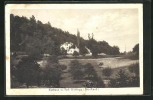 AK Rickenbach, Blick zum Kurhaus Bad Waldegg